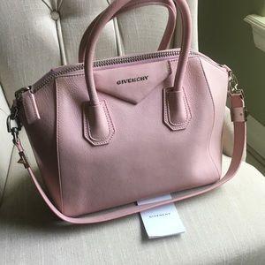 Authentic Givenchy Small Antigona Bag Powder Pink